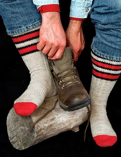 Knit Pattern For Moon Socks : Hunters Moon Socks PDF at FiberWild.com - Knitting Yarns, Needles, Kits,...