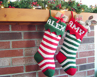 Ravelry: Harvey Christmas Stocking pattern by Martha Johnson