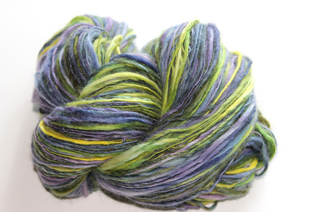 """Brain Freeze"" Handspun South African Fine Merino"