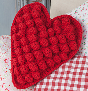Ravelry: Heart Shaped Textured Cushion pattern by Frederica Patmore