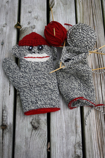 Knitting Pattern For Sock Monkey Mittens : Ravelry: Lined Sock Monkey Mitten pattern by Gigi Hooper
