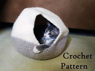 Ravelry: Felted Cat Cave/Bed pattern by Kana Upton