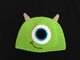 Ravelry: Mike Wazowski Hat pattern by Bonnie Topui