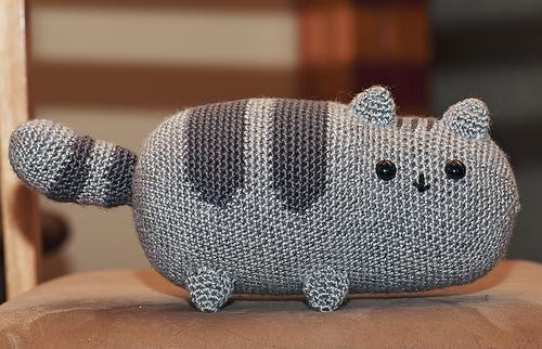 Free Crochet Cat Pillow Pattern : Ravelry: Pusheen the cat pattern by EmmasAnimalCreations