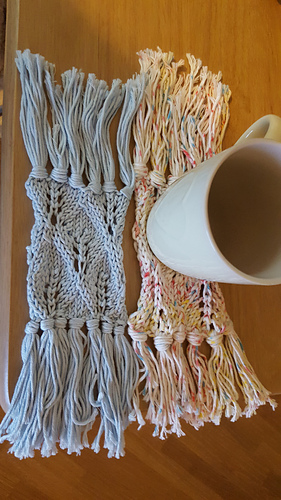 Ravelry Tassel Mug Rug Pattern By Tina Barrett