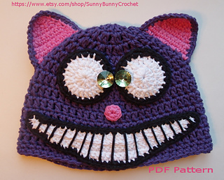 Ravelry: Cheshire Cat hat- Animal hat pattern pattern by ...