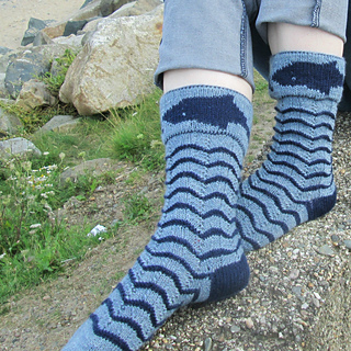Ravelry: Shark and Whale Socks Double Knit pattern by Gigi Knits