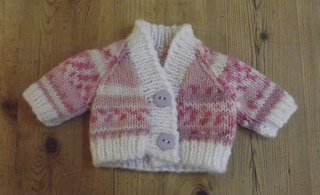 Knitting Pattern Premature Baby Cardigan : Ravelry: Double knit V-neck raglan premature baby cardigan pattern by Wye Nee...