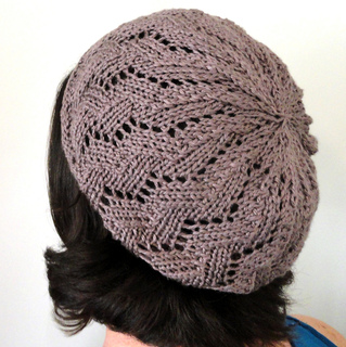 Ravelry: Lace Ribbon Slouch Hat pattern by Molly Wood