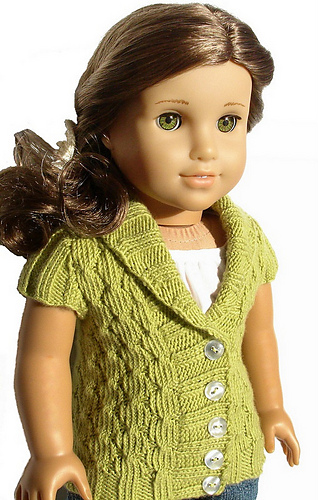 Knitting Patterns For Our Generation Doll Clothes : Ravelry: Olive Cardigan For 18 Inch American Girl Doll pattern by Steph Wylie