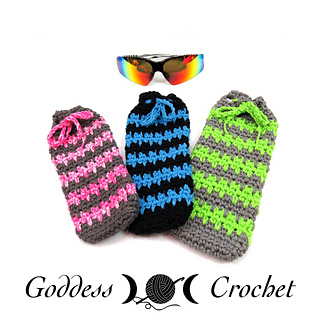 Free Crochet Pattern Eyeglass Case : Ravelry: Summer Spike Sunglasses Case pattern by Goddess ...