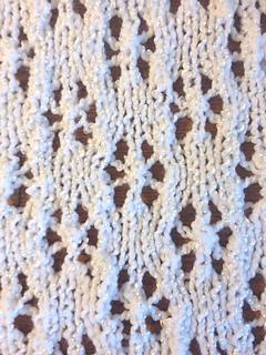 Eyelet Heart Knitting Pattern : Ravelry: Snowflake Eyelet Baby Blanket pattern by Golden ...