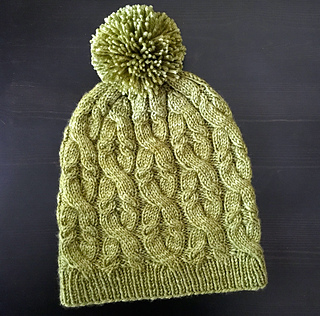 Sultana Cabled Hat pattern by Veronica Parsons