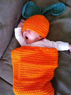 Ravelry: Carrot Top Hat & Cocoon Set pattern by Hooking ...