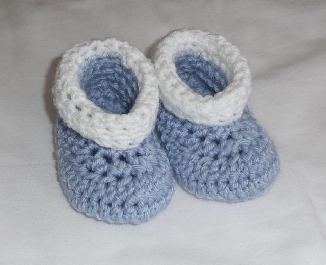 Beginner Crochet Baby Booties Pattern Free : Le cose di Mys@.. Maglia, Uncinetto, Telaio, Tutorial e ...