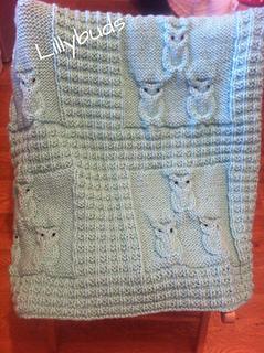 Knitting Pattern Owl Baby Blanket : Ravelry: Oliver Owl Blanket pattern by Lillybuds Baby Knits