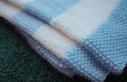 Easy Striped Baby Blanket Knitting Pattern : Ravelry: Striped Baby Blanket pattern by Heather Wells