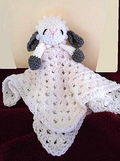 Ravelry 763 Little Lamb Baby Snuggle Blanket Pattern By