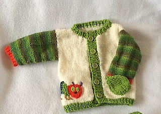 Ravelry: Hungry Caterpillar Cardigan pattern by Hennies Nimbleneedles