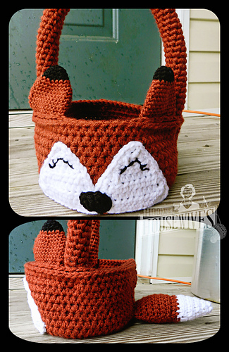 Ravelry: The Fox Says... Easter Basket pattern by Hooking ...