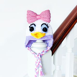 Ravelry Daisy Duck Inspired Baby Hat Pattern By Olivia Kent