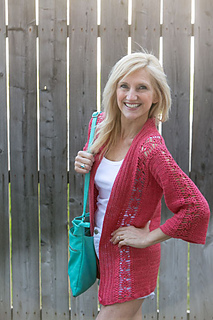 Pineapple Cardigan in Manos Serena