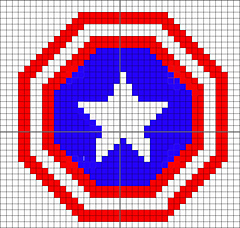 Captain America Knitting Pattern : Ravelry: Captain America?s Shield: Shield of America! pattern by Iam 4MAN
