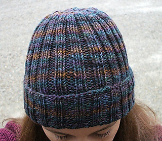Free Knitting Pattern For Mens Ribbed Hat : Ravelry: Ribbed Watchmans Hat pattern by Channah Koppel