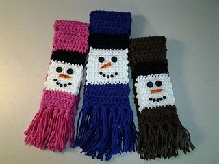Ravelry Snowman Scarf Pattern By Laura Brozo