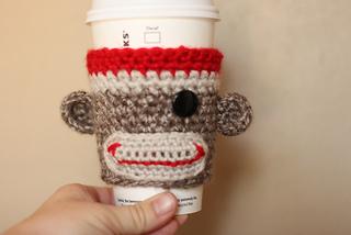 Ravelry Sock Monkey Coffee Cozy Pattern By Inner Hooker