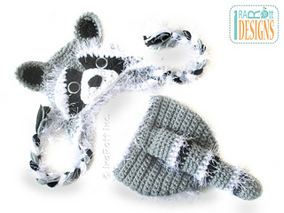 Crochet Pattern Raccoon Hat : Ravelry: Rocky the Raccoon Baby Hat and Diaper Cover Set ...
