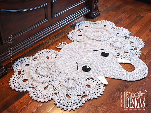 Ira Rott Designs Crochet Elephant Rug Pattern - Jeffery