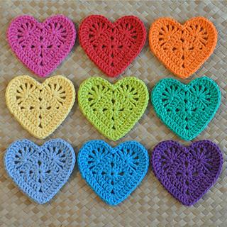 Free Crochet Granny Heart Pattern : Ravelry: Granny Heart Coaster & Motif pattern by Divina Rocco