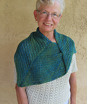 Bearfoot Over the Shoulder Shawl PDF