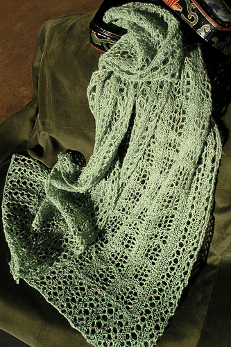 Crest Of The Wave Lace Scarf Pdf At Fiberwild Knitting Yarns