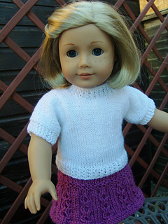 Free Knitting Patterns For Doll Clothes 18 Ins : Ravelry: Plain T-Shirt for 18inch dolls pattern by Jacqueline Gibb