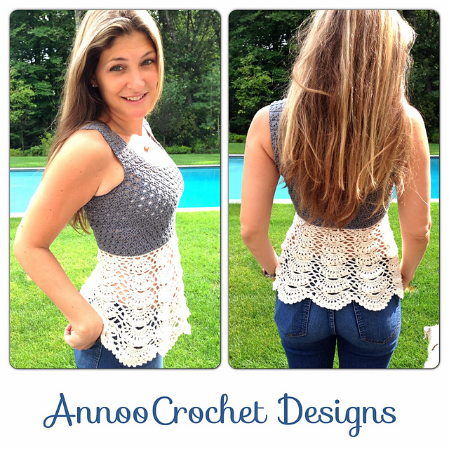 Free Crochet Patterns Tops : Drenkas Crochet // ??????? ?? ??????: Free crocheted top ...