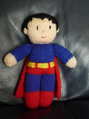 Knitting Pattern Superman Doll : Ravelry: Knitted Superman pattern by Irene McCormick