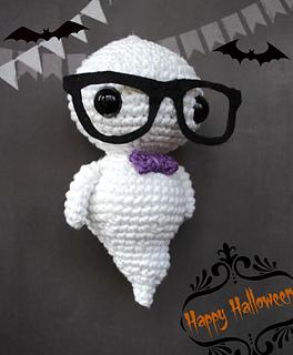 Crochet Amigurumi Ghost : Ravelry: Halloween hipster ghost amigurumi pattern by ...