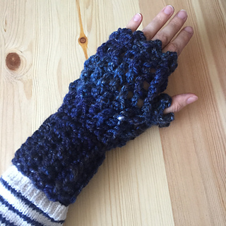 Picot Crochet Fingerless Gloves