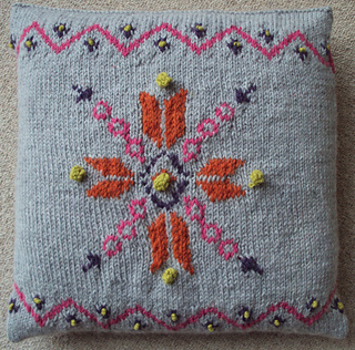 Ravelry: Snowflake Cushion Cover pattern by Sian Brown Knitwear Design