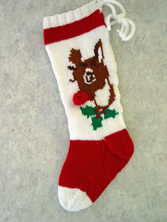 Ravelry: Rudolph Christmas Stocking pattern by Mary Maxim