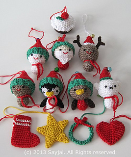 Zelda Amigurumi Patterns : Ravelry: Christmas Cuties Amigurumi pattern by Sayjai ...