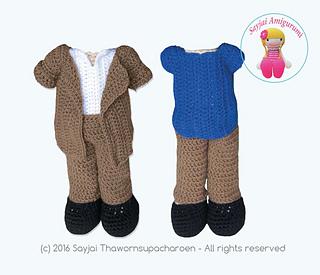 Amigurumi Dress Up Dolls : Ravelry: Dress Up Dolls Amigurumi Crochet Patterns - patterns