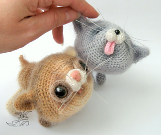 Amigurumi Cats And Friends Pattern : Ravelry: 020 Kittens Amigurumi Cat Ravelry pattern by ...