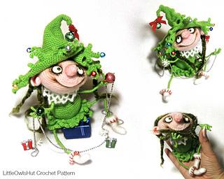 Ravelry: 064 Doll Marie Christmas tree pattern by LittleOwlsHut