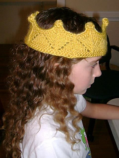 Elegant Knit Crown pattern by Kathryn Andrews