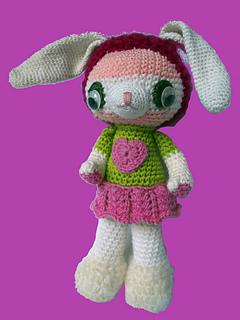 Amigurumi Sheep Patterns : Ravelry: Basic Amigurumi Rabbit pattern by KnitBitch