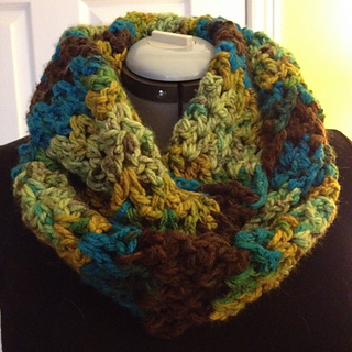 Free Crochet Pattern Pavement Infinity Scarf : Ravelry: Pavement Infinity Scarf pattern by Fiber Flux ...