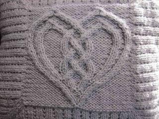 Ravelry: Cabled Heart pattern by Devorgillas Knitting ...